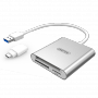 UNITEK USB 3.0 To Multi-In-One Card Reader. Includes USB-C Adapter
