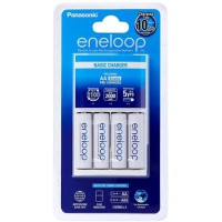 Panasonic Eneloop Overnight Charger + Included x4 AA Rechargeable batteries