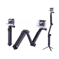 Three-way Monopod Stand Mini Tripod Extension Arm for Gopro Hero 1 2 3 3+ 4 5