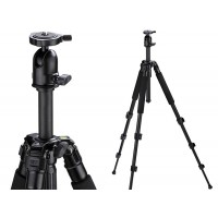 Camera Travel Portable Aluminum Tripod + Ball Head