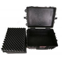 large trolley flight case with foam Hard case