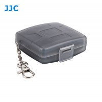 Shockproof Waterproof Key Ring Style Memory Card Case fits 4 SD, 4 MicroSD