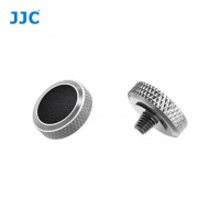 JJC Professional Deluxe Soft Release Button for cameras - Silver and black