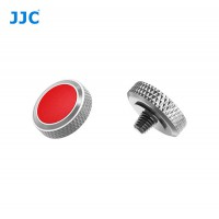 JJC Professional Deluxe Soft Release Button for cameras - Silver and red