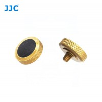 JJC Professional Deluxe Soft Release Button for cameras - Gold and black