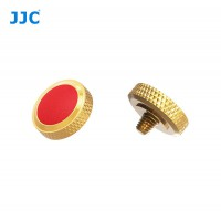 JJC Professional Deluxe Soft Release Button for cameras - Gold and red