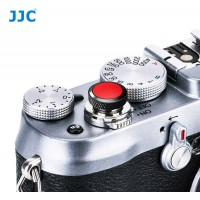 JJC Professional Deluxe Soft Release Button for cameras - Black and Red