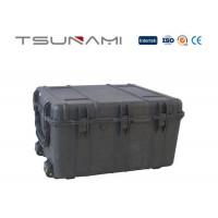 Tsunami super tough standard military grade large size flight case with wheels