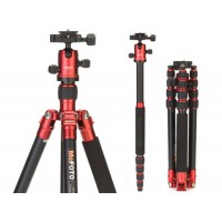 MEFOTO Professional Travel Tripod Roadtrip Classic Monopod Kit - RED