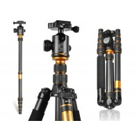 Beike Portable Carbon Fiber Travel Tripod Monopod + Ball Head - folds to 35cm