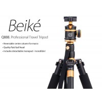 Beike Q888 Portable Travel Tripod Monopod Aluminum with Ball Head