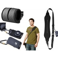Quick Rapid Shoulder Camera Strap - Black With Plate