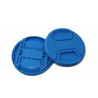 Colourful Blue Center Pinch Lens cap  72mm