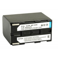 BP-941 BP-945 Battery for Canon 6000MAH