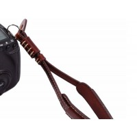 Leather Camera Hand Wrist Strap Lanyard For all digital and DSLR Camera -Brown