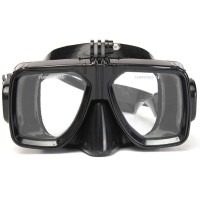 Diving mask soft silicon scuba tempered glass mask compatible with Gopro hero