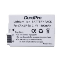 Durapro High Quality Cell LP-E8 battery for Canon Cameras 1800mAh