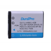 Durapro Battery For Nikon Coolpix EN-EL10 1200mAh