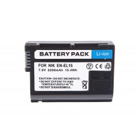 Battery for Nikon EN-EL15 D7000 D800E D800