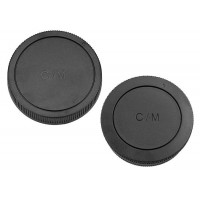 Front and Rear Lens body Cap for Canon EOS M Mount