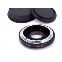 Canon FD Lens to EOS Body Mount Adapter with glass