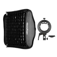 Godox S2 Bowens Mount Bracket with 80cm Grid Softbox and Carrying Bag Kit