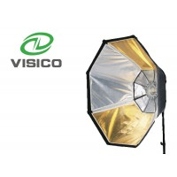 Octagonal Softbox + Grid reverse gold and silver