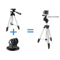 Full Tripod Stand Mount Holder for Gopro and all Action Cameras