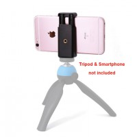 Mobile Phone Tripod 2 way Holder Adaptor Clip Mount for iPhone and smartphone