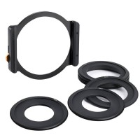K&F Concept Cokin Z series Square 100mm Filter Metal Holder + 7pcs Adapter Rings