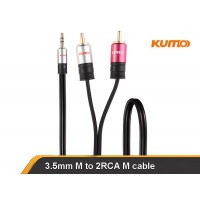 KUMO Elite Series 3.5mm to 2 x RCA 5m