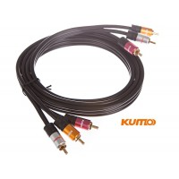 Kumo Elite Series 3RCA Composite Video cable 1.5m