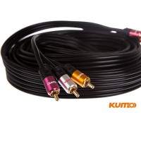 Kumo Elite Series 3RCA Composite Video cable 10m