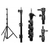 Heavy Duty Air Cushion Professional Photographic Studio Light Stand 2.9m