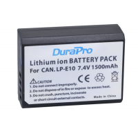 DuraPro LP-E10 1500mAh Battery For Canon EOS 1100D 1200D Kiss X50 X70 Rebel T3 T