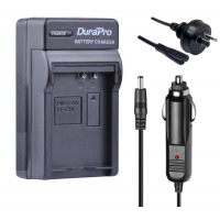 Durapro Car and Wall Charger for Canon LP-E10