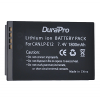 DuraPro LP-E12 1800mAh Battery for Canon EOS M M2 100D Kiss X7 Rebel SL1