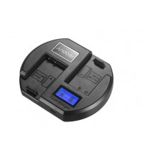 Andoer Dual USB Fast Charger For Canon LP-E17 Camera Battery