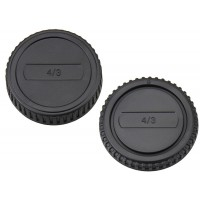 Front and Rear Lens body Cap for Olympus OM Mount