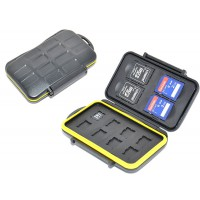 Water-Resistant Memory Card Case 4x SD 8x microSD