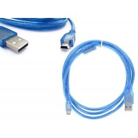 USB 2.0 High Quality Male A to Mini B 5-pin cable