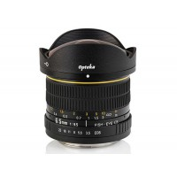 Opteka 6.5mm HD Fisheye Lens for Canon EOS