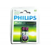 2 HR03 AAA 800mAh Rechargeable batteries - Philips