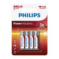 Philips Powerlife Power Alkaline AAA batteries - 4 pack