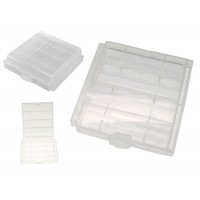 Storage case holder for 4x AA or AAA battery