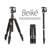 Beike Q-555 Professional Travel Tripod with Monopod