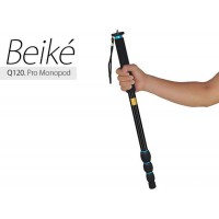 Beike Q120 Portable Aluminum Alloy Photography Monopod Tripod 3/8 Screw for DSLR