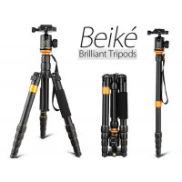 Q278 portable Professional travel tripod with ballhead and detachable monopod