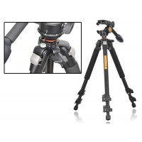 Professional Camera Video Tripod with Fluid Head and Quick Release Plate