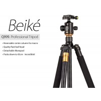 Beike Q999 Portable Tripod For SLR Camera includes Ball Head and Monopod